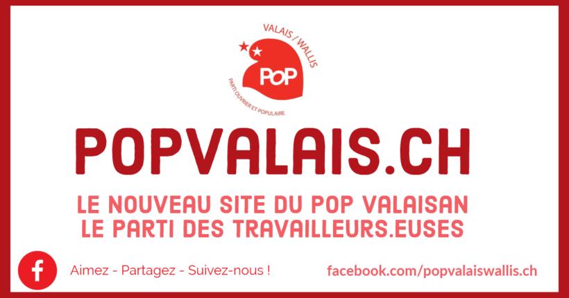 Un nouveau site pour le POP Valais !