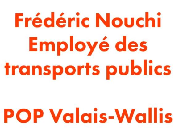 Taxe Corona de Solidarité – Témoignage de Frédéric Nouchi, POP Valais