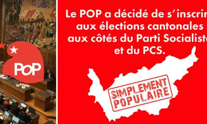 Le POP se lance dans les élections cantonales
