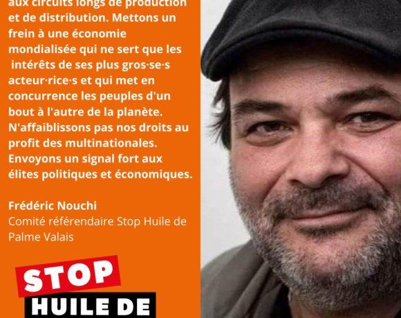Stop huile de palme – NON le 7 mars